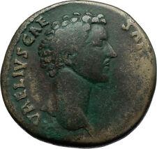 MARCUS AURELIUS as Caesar 148AD Rome Sestertius Ancient Roman Coin PIETAS i66481