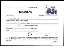 HUNGARY 1980 7 ft IGAZOLAS postal stationery = register slip, recepisse