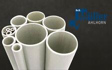 GFK-Rohr Weiss (Polyester), 20 x 15 x 2000 mm Rundrohr Glasfaser GFK