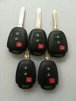 5 Remote Key Shell for  2013-2019 Toyota Rav4 Prius GQ4-52T HYQ12BDM 1551A-12BDM