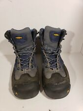 "KEEN Mens Milwaukee 6"" Steeltoe Blue Work & Safety Boots Size 10"