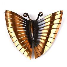 Rare Vintage Signed Rebajes Copper Butterfly Fur Clip