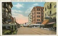 Berkeley CA Telegraph Ave & Bancroft c1920 Postcard EXC COND