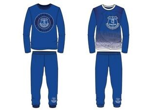 Boys Kids Everton Pyjamas 4-12 Years 100% Cotton Long Sleeve Official Toffees