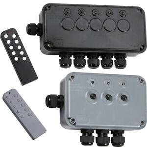 IP66 Outdoor Garden Pond Weatherproof Waterproof 13A Electric Switch Box Remote