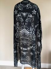 GIVENCHY BLACK GOTHIC TATTOO PRINT SCARF MADE IN ITALY AS WORN BY LIAM PAYNE