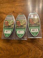 Yankee Candle BALSAM & CEDAR Fragranced Wax Melts Lot Of 3 NEW 2.6 OZ