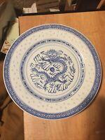 "CHINA (MADE IN CHINA) CX78 - BLUE DIAMOND BAND & DRAGON 10"" Plate"