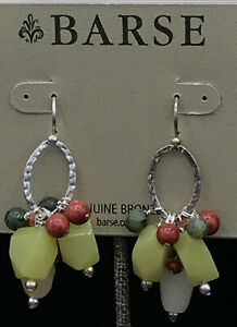 Barse Lustrous Beaded Earrings- Sterling Silver- NWT