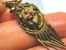 Antique 18ct Gold 18k Gold Georgian garnet & seedpearl pendant