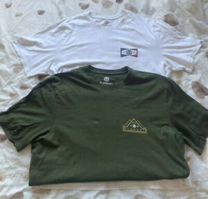 2x Element Short Sleeve Tshirts Size XL
