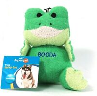 1 Count Aspenpet Booda Large Frog Terry Toy Loveable For Cuddling Dog Toy