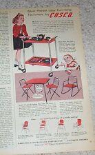 1955 print ad - Cosco kids girl play furniture Hamilton Columbus IN vintage AD