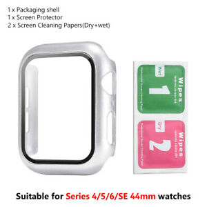 9H Screen Protector Case Snap On Cover For Apple iWatch Series 6/5/4/SE 44mm 46