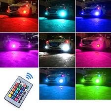 2 Auto H7 5050 LED 27 SMD RGB Car Headlight Fog Lights Lamp Bulb Remote Control