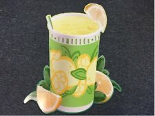 Auction Is For Two Same Size Lemonade Lemon Cup Drink Corrugated Plastic Signs
