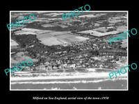 OLD LARGE HISTORIC PHOTO OF MILFORD ON SEA ENGLAND, AERIAL VIEW OF TOWN c1950 2