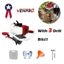 52cc 2stroke Earth Auger Gas Powered Post Hole Digger Machine With 3 Drill Bits