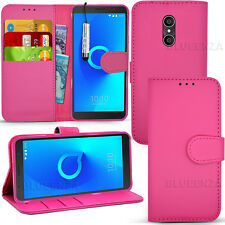 For Alcatel 3C 5026D Case Wallet Cover Leather Book Flip + Screen Protector