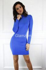 Vestiti da donna a manica lunga alti blu