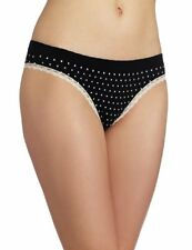 Barely There Cheeky Microfiber Black Dot Bikini Size 5/Small