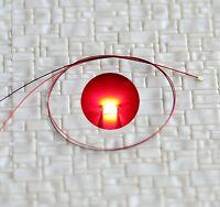 S807 - 10 Stück SMD LEDs 0603 rot mit Kabel Microlitze fertig angelötet