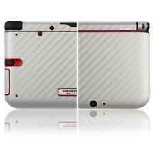 Skinomi Carbon Fiber Silver Skin Cover+Screen Protector for Nintendo 3DS XL