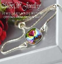 925 Pulsera De Plata Cristales de Swarovski ® elegante piedra Vitrail Medio 12 mm