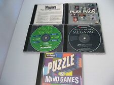 PC DVD MULTIMEDIA GAME PACK - Puzzle Mind Games MAGIC FOR WINDOWS Play MegaPac