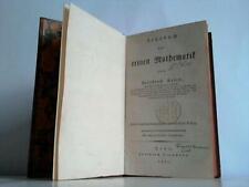 Kries, Friedrich: Lehrbuch der reinen Mathematik
