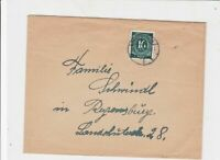 germany 1940s allied occupation stamps cover ref 18665