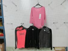 4 WOMEN TOP LADIES EVERLAST SPORT HOODIE JACKET LEE COAT WORK OUT CLOTHING LOT