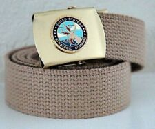USAF Strategic Command Emblem Khaki Belt & Buckle
