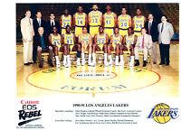1990 1991 LOS ANGELES LAKERS  8X10 TEAM PHOTO  BASKETBALL NBA JOHNSON HOF