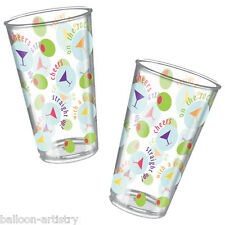 6 Cheers Christmas New Years Celebration Party 532ml Plastic Tumblers Glasses