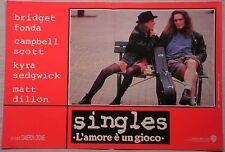 Fotobusta SINGLES L'AMORE E' UN GIOCO 92 MATT DILLON BRIDGET FONDA CAMPBEL SCOTT