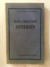 HANS CHRISTIAN ANDERSEN 1929 CENT CHEFS D'OEUVRES ETRANGERS