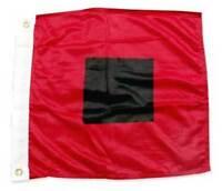 "HURRICANE WARNING FLAG 36""x36"" SEWN APPLIQUE NYLON Miami Hurricanes Made in USA"