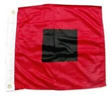 """36"""" x 36"""" HURRICANE WARNING NAUTICAL FLAG Sewn Applique Nylon MIAMI HURRICANES"""