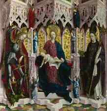 Michael Pacher The Virgin And Child Enthroned With Angels And Saints A4 Print