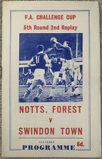 More details for nottingham forest v swindon town pirate programme fa cup 1966/67