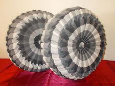 Custom Made Round Pillows Plaid/ Black for sofa/ bed Throw Decorative.