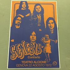 GENESIS - CONCERT POSTER GENOVA 22ND AUGUST 1972    (A3 SIZE)