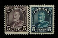 Canada SC# 169 and 170, Mint Hinged, Hinge Remnant - S11435