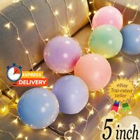 "5""inch Balloons Small Round 10pk Pastel Balloons Latex Party Birthday Decor fs"