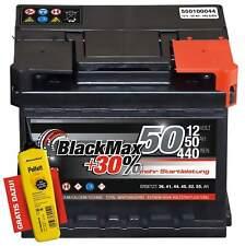 Autobatterie 12V 50Ah 440 A/EN BlackMax 50 ersetzt 36 40 41 43 44 46 48 51 52 AH