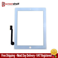 Apple iPad 3 Touch Screen Glass Digitizer Assembly Home Button Replacement White