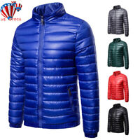 Mens Puffer Bubble Down Jacket Coat Lightweight Quilted Padded Packable Outwear