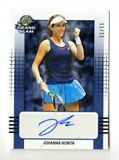 JOHANNA KONTA  ATP 2018 LEAF GRAND SLAM TENNIS AUTOGRAPHS BLUE #/15