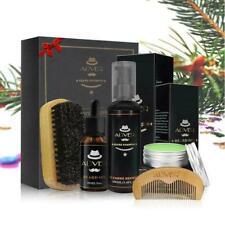 Men Beard Care Shampoo Oil Balm Comb Brush Grooming Shaving Great Gift Kit